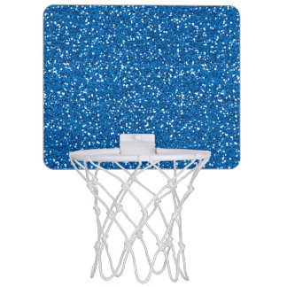 Sparkly Blue Glitter Mini Basketball Hoop