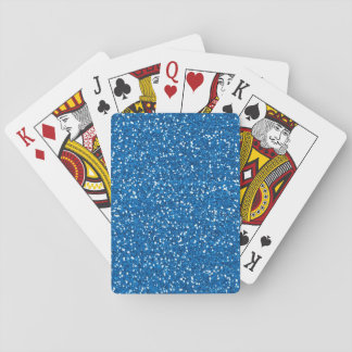 Sparkly Blue Glitter Playing Cards