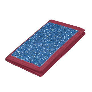 Sparkly Blue Glitter Trifold Wallets