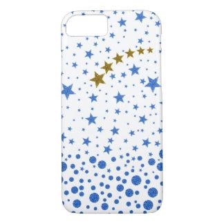 Sparkly blue stars iPhone 7 case