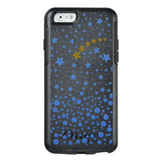 Sparkly blue stars OtterBox iPhone 6/6s case