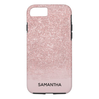 Sparkly Blush Pink Faux Glitter iPhone 8/7 Case
