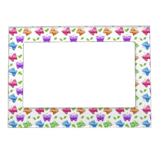 Sparkly Butterflies Magnetic Picture Frame