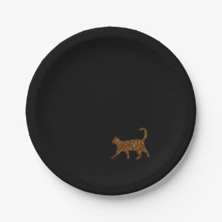 Sparkly Cat 7 Inch Paper Plate