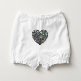 Sparkly colourful silver mosaic Heart Nappy Cover