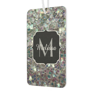 Sparkly colourful silver mosaic Monogram