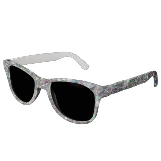 Sparkly colourful silver mosaic sunglasses