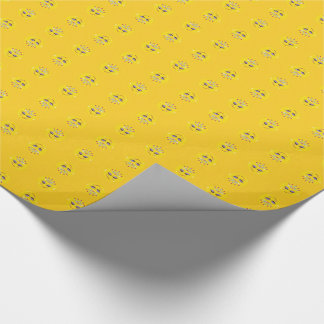 Sparkly Emoji Princess Wrapping Paper