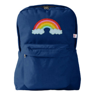 Sparkly fabric rainbow backpack