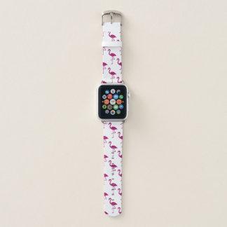 Sparkly flamingo Pink glitter sparkles pattern Apple Watch Band