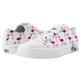 Sparkly flamingo Pink glitter sparkles pattern Low Tops