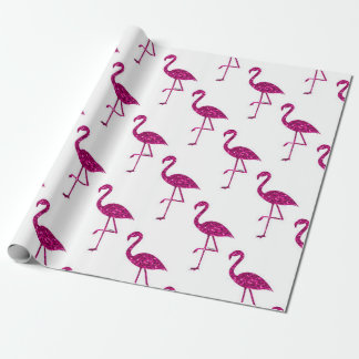Sparkly flamingo Pink glitter sparkles pattern Wrapping Paper