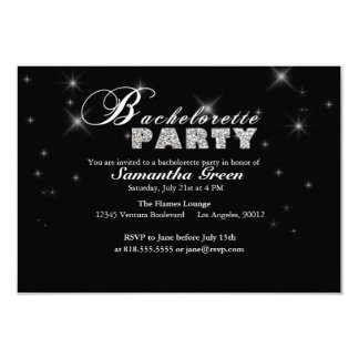 Sparkly Glitter Bachelorette Party Invitation