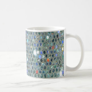 Sparkly Glitzy Silver Glitter Bling Coffee Mug