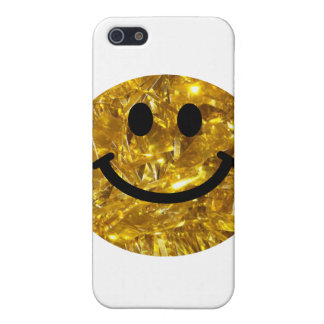 Sparkly Gold Bling Smiley iPhone 5 Cases