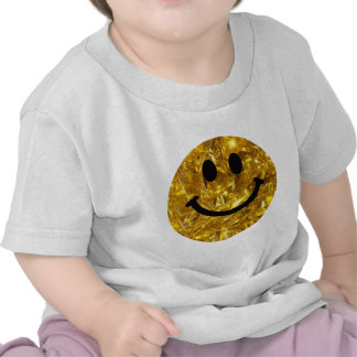 Sparkly Gold Bling Smiley Tees
