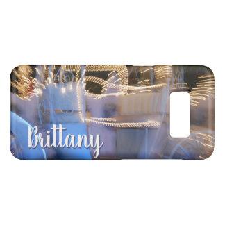 Sparkly gold blue princess coach photo custom name Case-Mate samsung galaxy s8 case