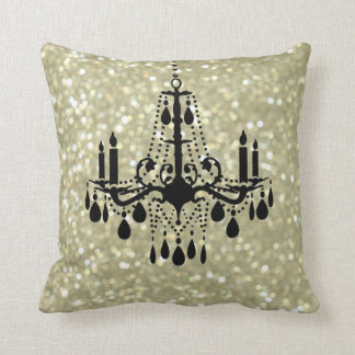 Sparkly Gold Chandelier Pillow