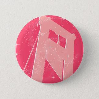 sparkly guillotine 6 cm round badge