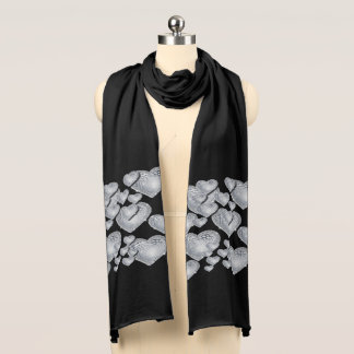 Sparkly hearts scarf