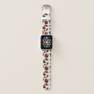 Sparkly leaves fall autumn sparkles pattern apple watch band