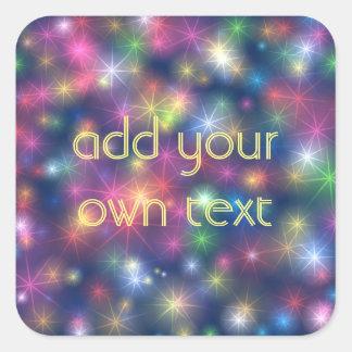 Sparkly Lights Square Sticker