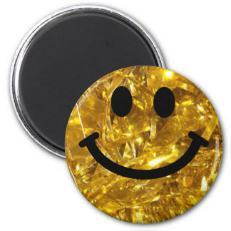 Sparkly-look Gold Smiley (non-glittey graphic) Magnet