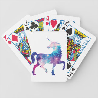 Sparkly Magical Unicorn Bicycle Playing Cards
