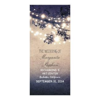 sparkly night lights romantic wedding programs custom rack cards