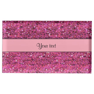 Sparkly Pink Glitter Table Card Holder