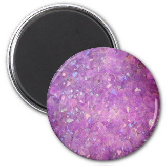 Sparkly Pinky Purple Aura Crystals Magnet
