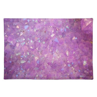 Sparkly Pinky Purple Aura Crystals Placemat