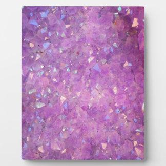 Sparkly Pinky Purple Aura Crystals Plaque
