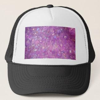 Sparkly Pinky Purple Aura Crystals Trucker Hat