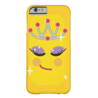 Sparkly Princess Emoticon Barely There iPhone 6 Case