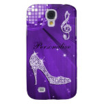 Sparkly Purple/ Lilac Music Note & Stiletto Heel