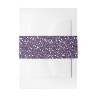 Sparkly Purple & Silver Glitter Invitation Belly Band