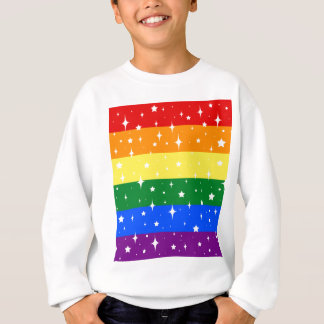 Sparkly Rainbow Flag Sweatshirt