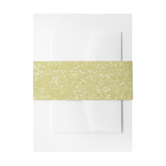 Sparkly Sandy Gold Glitter Invitation Belly Band
