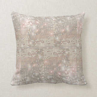 Sparkly Silver Sequins Throw Pillow Cushions