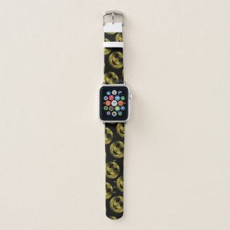 Sparkly Smiley Yellow Gold sparkles pattern Apple Watch Band