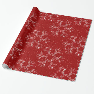 Sparkly Snowflake Wrapping Paper