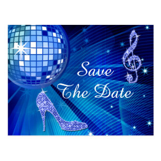 Sparkly Stiletto Heel 16th Birthday Save The Date Post Cards