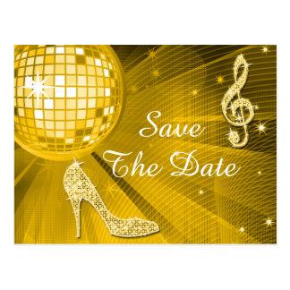 Sparkly Stiletto Heel 25th Birthday Save The Date Postcards