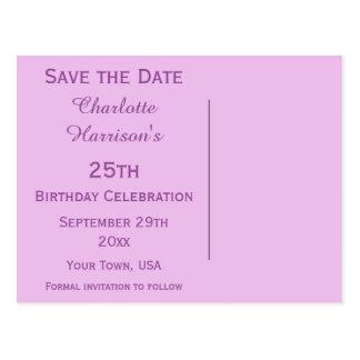 Sparkly Stiletto Heel 25th Birthday Save The Date Postcard