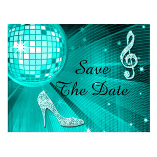 Sparkly Stiletto Heel 25th Birthday Save The Date Post Cards