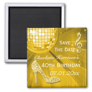 Sparkly Stiletto Heel 40th Birthday Save The Date Magnets