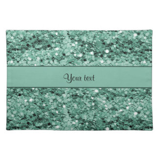 Sparkly Teal Glitter Place Mat