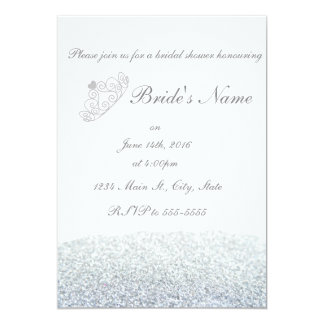 Sparkly Tiara Bridal Shower Invitations