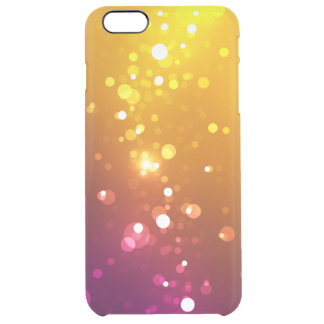 Sparks and Spectrum - Yellow / Purple, Clear iPhone 6 Plus Case